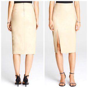 REVOLVE BARDOT Blush Vegan Leather Skirt